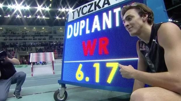 Duplantis tar världsrekord – klarade magiska 6,17