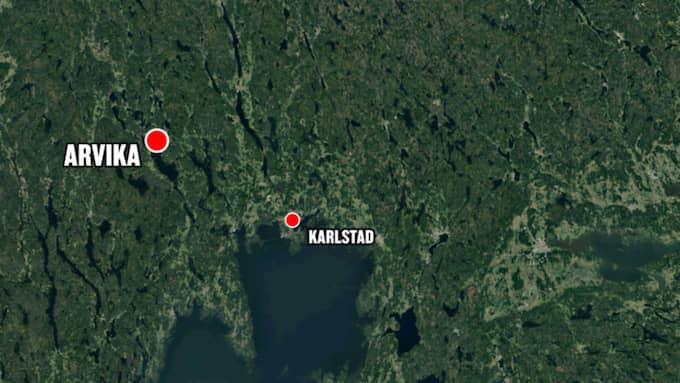 Olyckan skedde strax utanför Arvika. Foto: Google maps