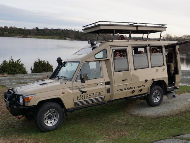 Här är Nordens första safaribil.