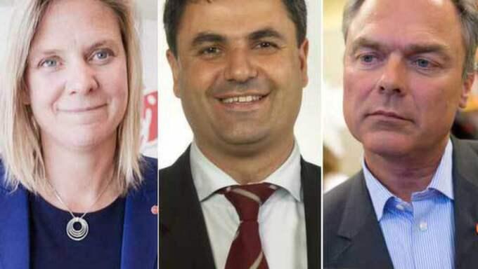 Magdalena Andersson, Ibrahim Baylan och utbildningsminister Jan Björklund.