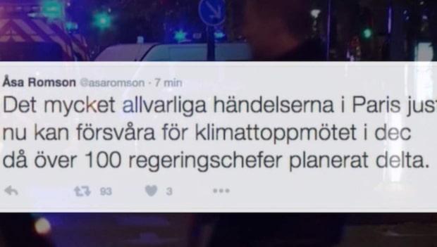 """Löfven om Romsons tweet: """"Olämpligt"""""""
