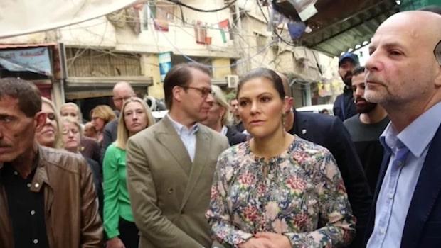 Hög säkerhet när kronprinsessparet besöker flyktingläger
