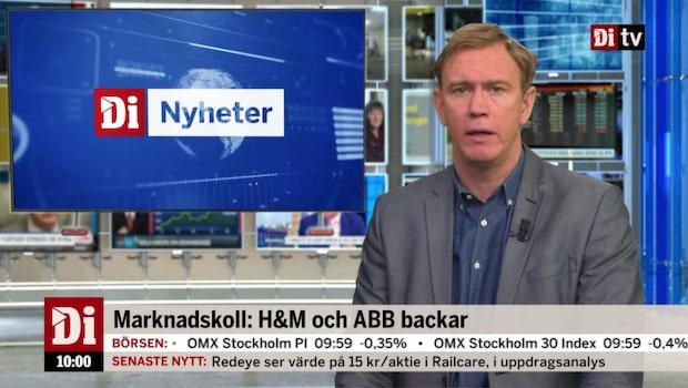 Di Nyheter 10:00 – H&M och ABB backar