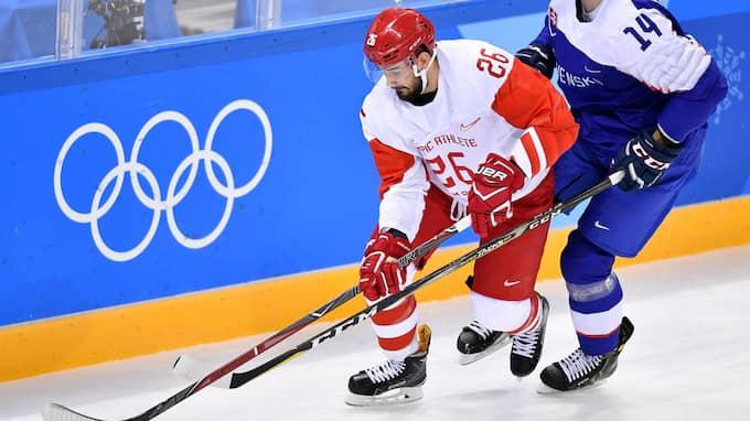 Slava Vojnov spelar OS-premiären för OAR. Foto: VLADIMIR PESNYA / SPUTNIK/IBL SPUTNIK