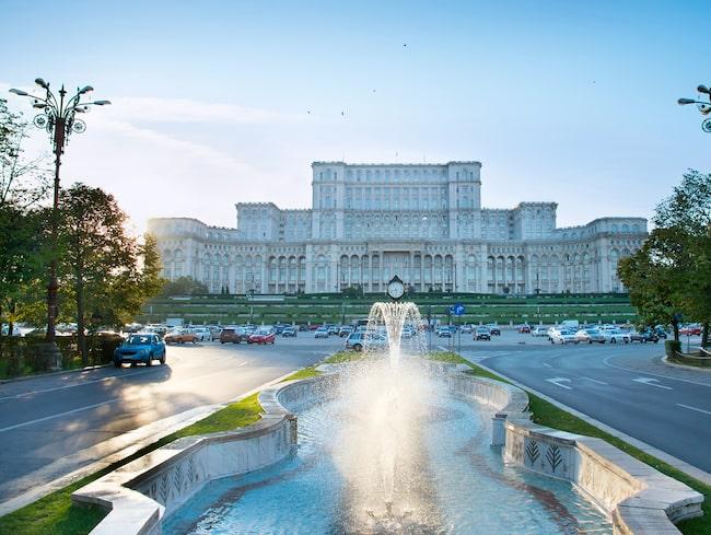 Nicolae Ceaușescus Parlamentspalats, en av Bukarests populäraste sevärdhet.