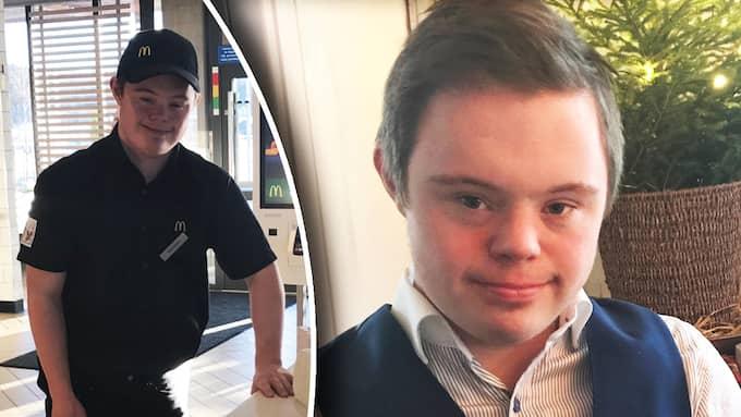 Nu berättar 21-årige Alexander om den stora glädjen för praktiken. Foto: Privat