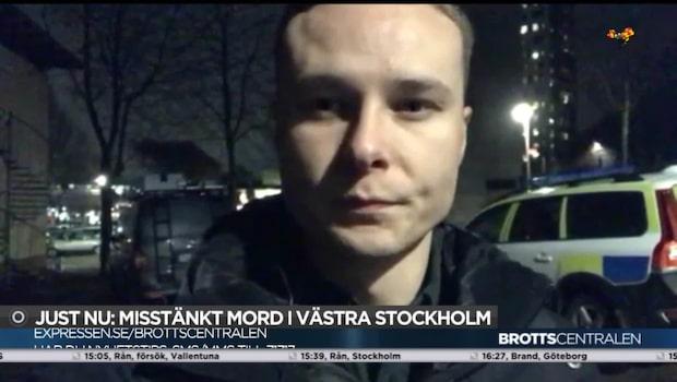 Misstänkt mord i västra Stockholm