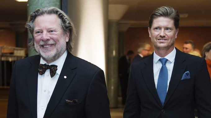 Odd Reitan, 64, och sonen Magnus, 40, tjänar hundratals miljoner på Pressbyråns franchisetagares slit. Foto: Benjamin A. Ward