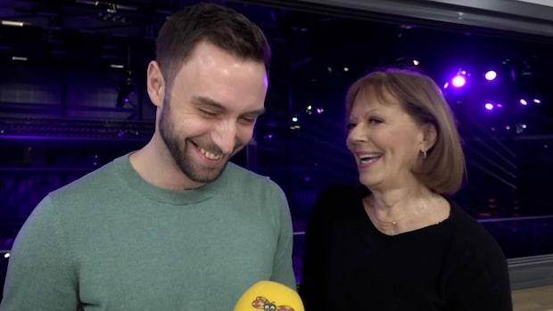 """Måns Zelmerlöw och Lill Lindfors om Mello-numret: """"Glömmer text"""""""