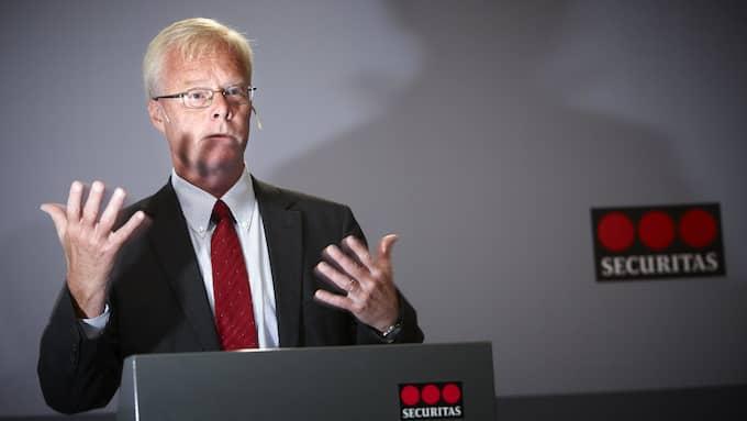 Alf Göransson på Securitas. Foto: FREDRIK PERSSON/TT NYHETSBYRÅN