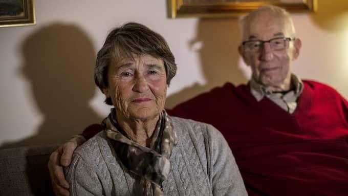 Margareta och hennes man Åke. Foto: HENRIK JANSSON