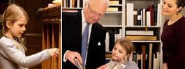 Prinsessan Estelle historiska  släktstund – på biblioteket