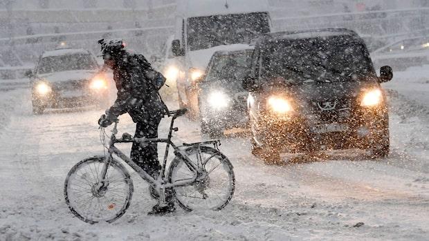 """Meteorologen: """"En hel del snöfall är att vänta"""""""