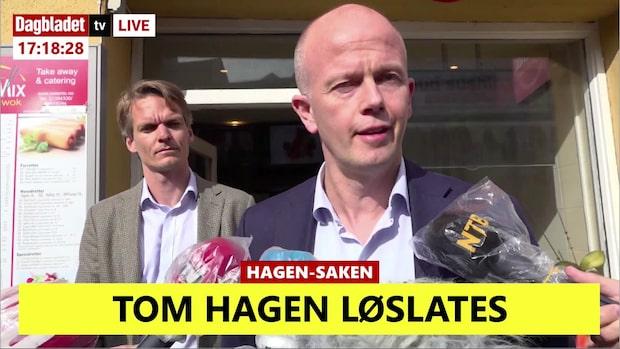 """Tom Hagen släpps på fri fot: """"Väntat"""""""