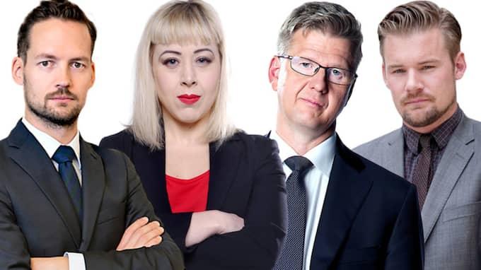 David Baas, Anna Bäsén, Christian Holmén och Claes Petersson.