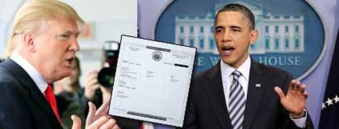 Donald Trump hävdar att Barack Obama inte är född i USA. Det har fått presidenten att ilskna till och visar nu upp sitt födelsebevis. Foto: AP