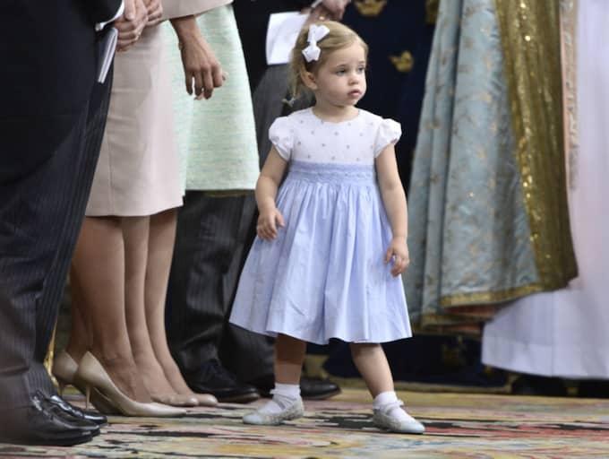 Prinsessan Leonore dansade loss i Slottskyrkan. Foto: Claudio Bresciani/TT