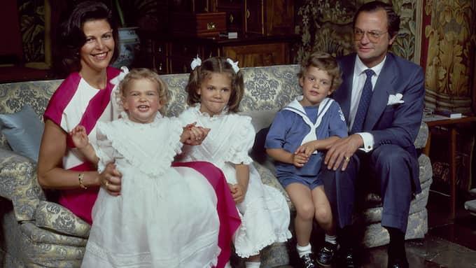 Kungafamiljen på Drottningholms slott 1984. Foto: Håkan Lind/Kungahuset.se