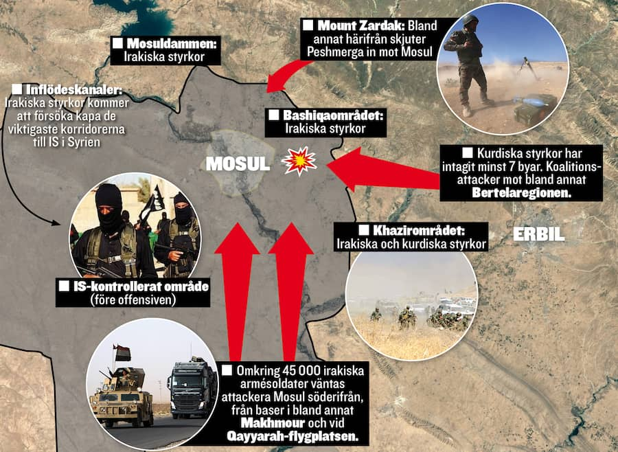 Usa flyttar bombplan narmare iraks grans