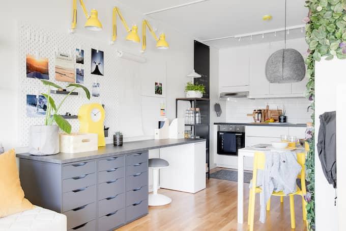 På söndag är det premiärvisning för en färdiginredd lägenhet i bostadsrättsföreningen Skildra i Gränby, Uppsala. Foto: Ikano bostad