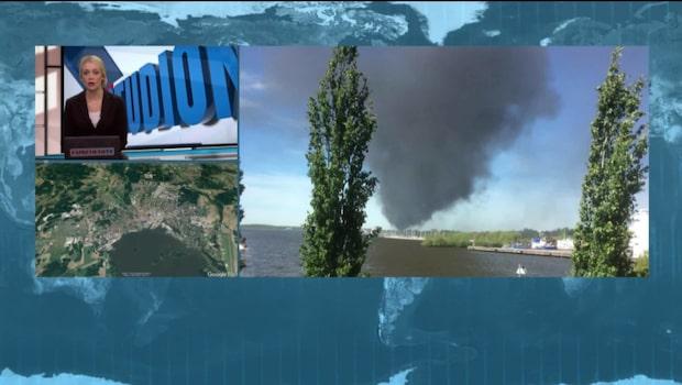 Brand på oljedepå - en skadad