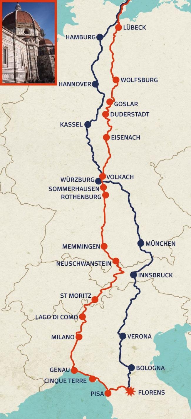 Karta Europa Andra Varldskriget.Bilsemester Basta Rutterna Om Du Vill Se Europa Fran Bilen Allt