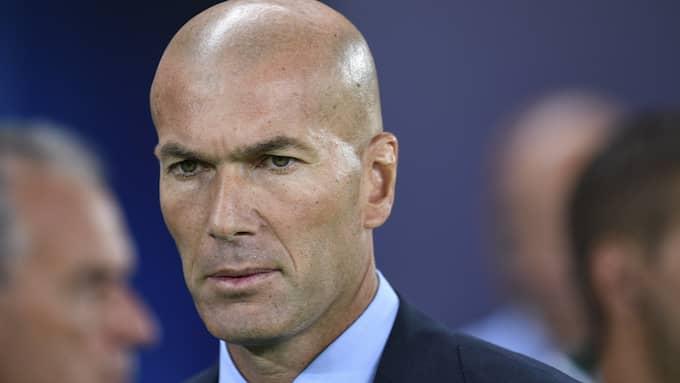 Zidane tog Real Madrid till både liga- och Champions League-titeln förra året. Foto: VASSIL DONEV / EPA / TT / EPA TT NYHETSBYRÅN