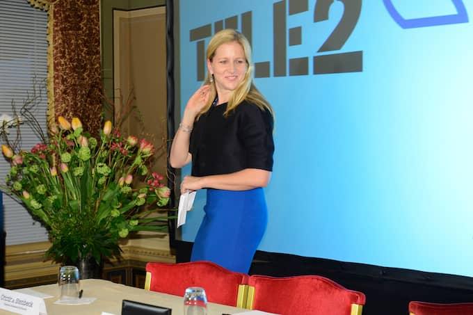 Cristina Stenbeck i samband med att Tele2 sålde Tele2 Ryssland till VTB Group för 2,4 miljarder dollar 2013. Foto: CHRISTIAN ÖRNBERG