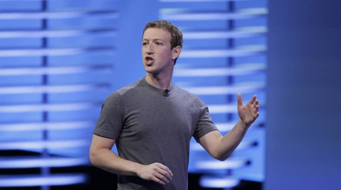 Facebooks vd Mark Zuckerberg. Foto: Eric Risberg / AP TT NYHETSBYRÅN
