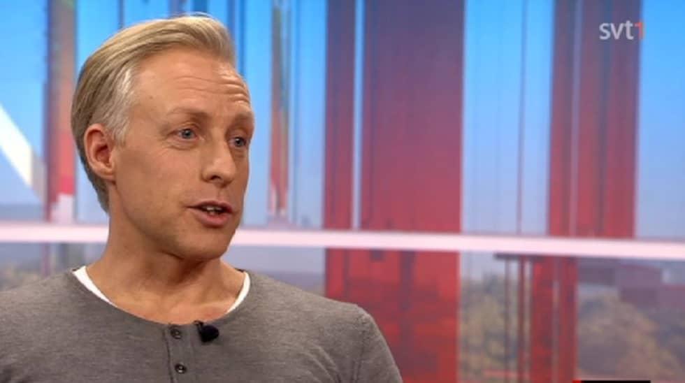 """André Pops berättade om händelsen i """"Gomorron Sverige."""" Foto: SVT."""