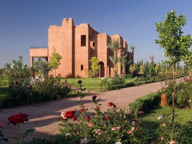 Här i det moriska slottet Dar Hasnaa i Marrakech i Marocko har kungaparet bott.