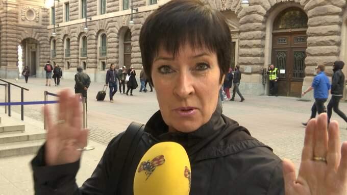 Mona Sahlin och livvakten Hernando Labbé Solinas får strafföreläggande. Foto: Erik Gustafson