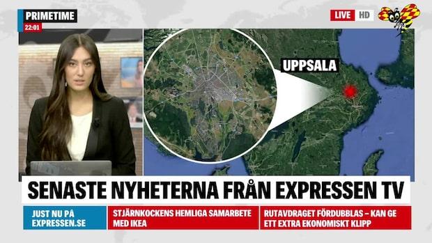 Larm om skottlossning vid naturområde i Uppsala