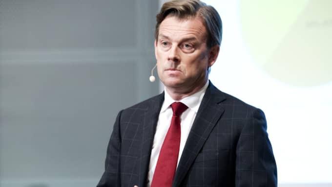 Michael Wolf lämnar sin post som vd för Swedbank. Foto: Olle Sporrong