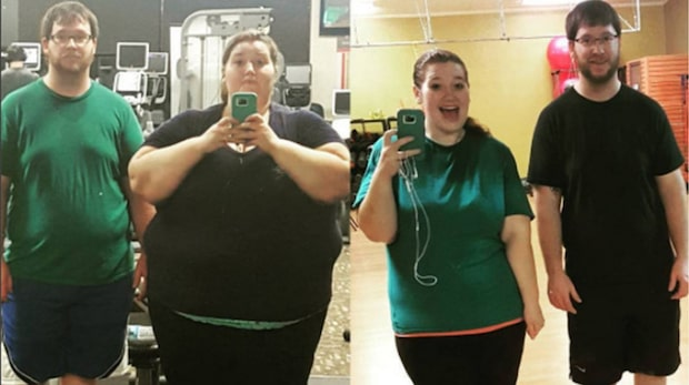 Så gick Lexi och Danny ner totalt 135 kilo