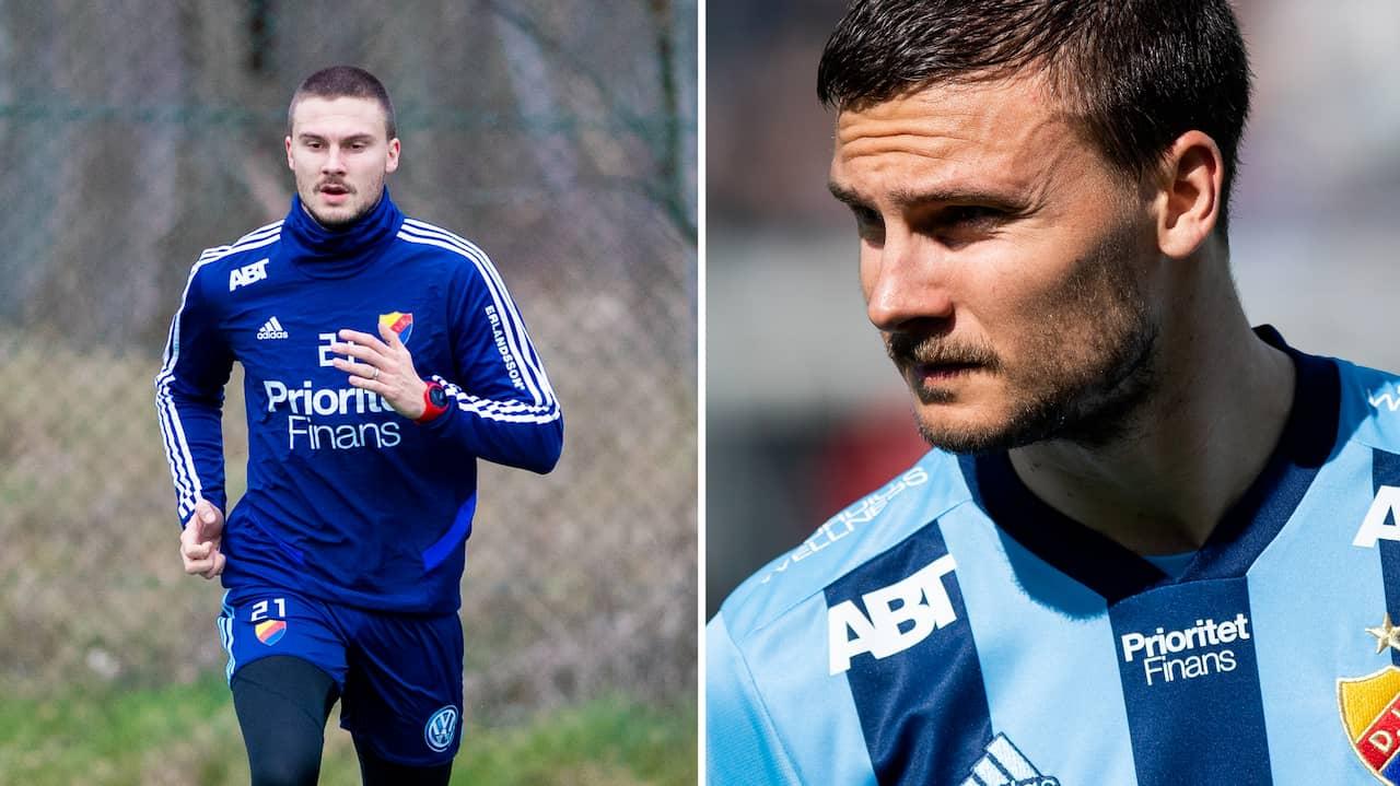 """Erik Berg stegrar träningen med Djurgården: """"Det ser jättebra ut"""""""