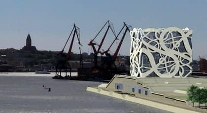 Så här är det tänkt att Frihamnsområdet i Göteborg ska se ut om Håkan Cullberg får bestämma. Foto: Cullbergs arkitektkontor