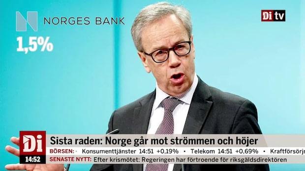 Norge går mot strömmen och höjer räntan