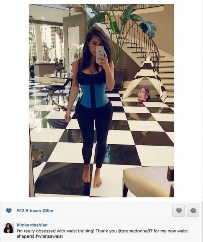 Kim Kardashian på Instagram.