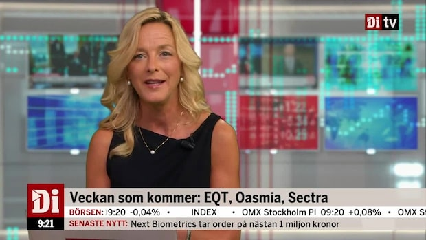 Veckan som kommer: EQT, Oasmia & Sectra