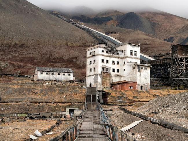 Den övergivna gruvan Pyramiden på Svalbard.