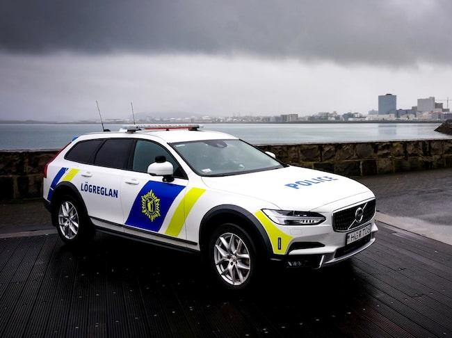 Volvo V90 Cross Country trivs bra i det isländska klimatet.