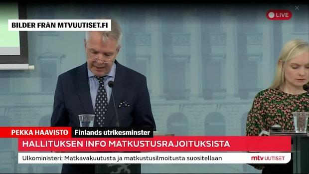 Finland fortsätter att hålla gränsen till Sverige.