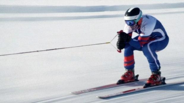 Åka skidor efter en bil?