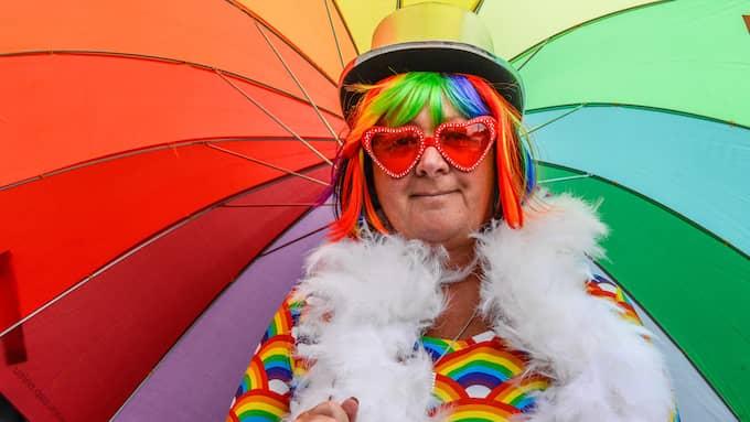 Anneli Schagerström är vice förbundsordförande för HBT-Socialdemokrater och West Prides regnbågsparad anser hon vara en viktig manifestation. Foto: HANNA BRUNLÖF / GT/EXPRESSEN