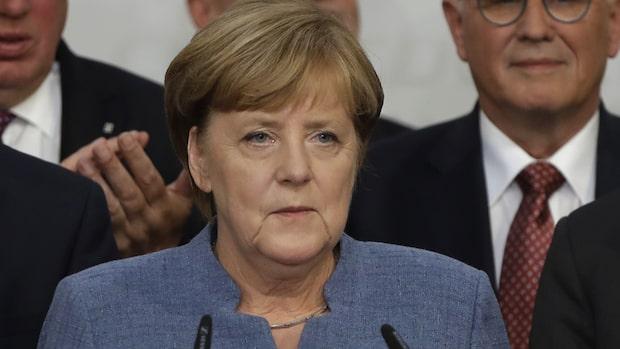 Angela Merkel fortsatt förbundskansler - besviken över valresultatet