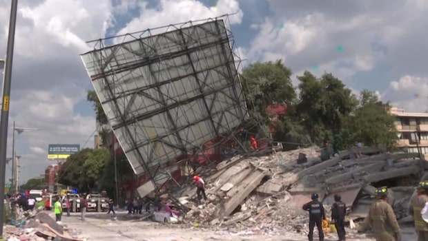 Minst 228 döda i jordbävningen i Mexico City