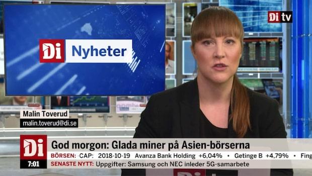 Di Morgonkoll 22 oktober - positiva resultat för Astra Zeneca-läkemedel