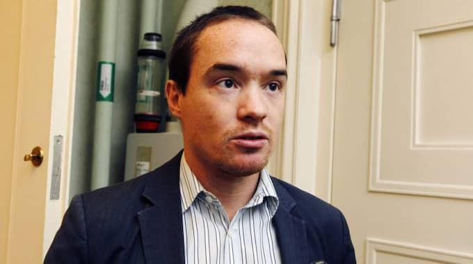 Sverigedemokraternas rättspolitiske talesperson Kent Ekeroth ser också Gävleborgspolisens kartläggning som en bekräftelse. Foto: Cornelia Nordström