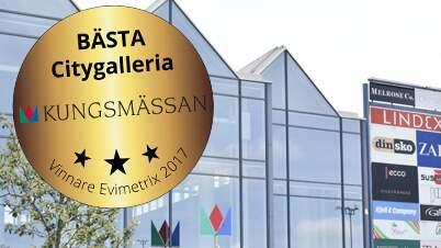Kungsmässan i Kungsbacka är Sveriges bästa citygalleria, enligt en färsk undersökning. Foto: Kungsmässan.se
